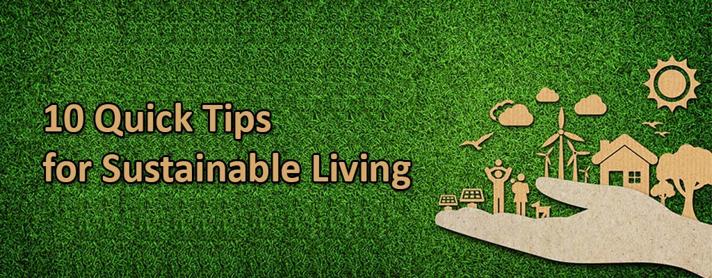 10 Quick Tips for Sustainable Living